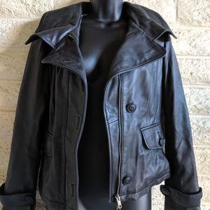 Mackage Jackets & Coats - Mackage | leather button & zip black jacket EUC